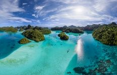 Wayag islands, Raja Ampat, Indonesia, aerial photo