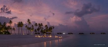 Maldives in the evening