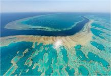 Bird's eye view of the Great Barrier Reef, Australia