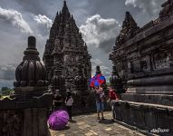 Visitors of the Prambanan