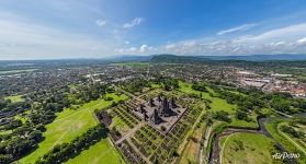 Bird's eye view of Prambanan Temple Compounds