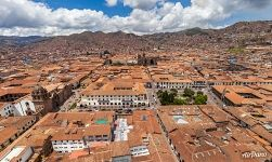 Bird's eye view of Cusco