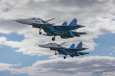 Su-30SMs, the Russian Knights aerobatic team