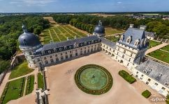 Over the main yard of Château de Valençay