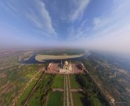 Taj Mahal from the altitude of 200 meters
