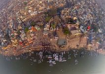 Varanasi from the altitude of 160 meters