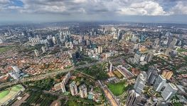 Bird's eye view of Jakarta