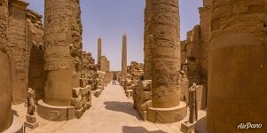 Passage of the Hypostyle hall. Karnak Temple