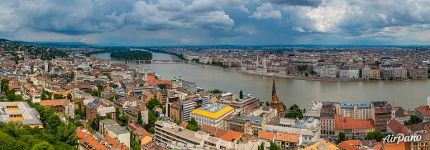 Bird's eye view of Budapest