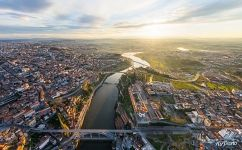 Bird's eye view of Porto