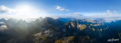 Clouds above Huangshan mountains