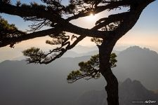 In Huangshan mountains