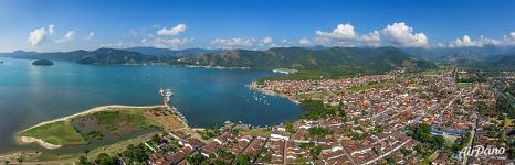 Aerial panorama of Paraty