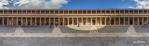 Panorama of the Patio of the Palace of Charles V