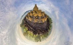 Upper tier of Borobudur. Planet