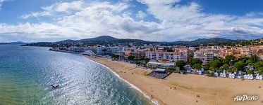 French Riviera Sainte-Maxime. Panorama