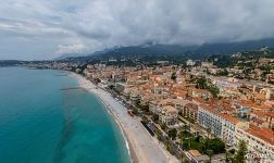 Bird's eye view of Menton