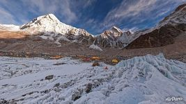 At the base of Khumbu icefall