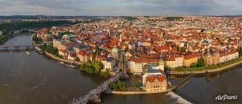 Above the Charles Bridge. Prague, Czech Republic