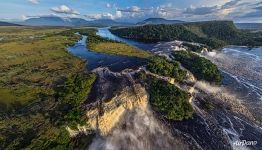 Canaima Lagoon from above
