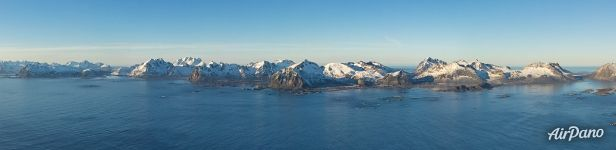 Mountains of Lofoten archipelago
