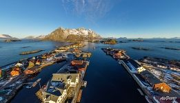 Architecture of the Henningsvær fishing village