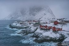 Lofoten archipelago in winter