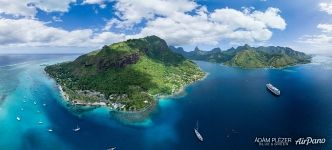 Opunohu Bay,Vaipahu Point, Paul Gauguin cruiseship, Moorea
