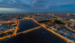 Neva River at night