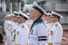 Rehearsal of the Russian Navy parade