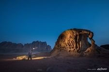 In Wadi Rum at night