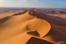 Sahara Desert from drone