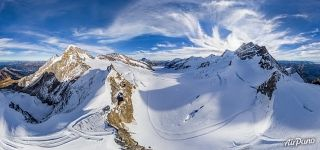Birds eye view of the Jungfraujoch