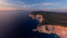 Sunset view, Navagio cliffs