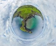 Above the Carrick-a-Rede Rope Bridge. Planet