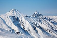 Kamchatka volcanoes in winter