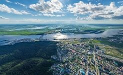 Bird's eye view of Khanty-Mansiysk