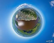 Above Irtysh River and Samarovo District. Planet