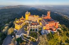 Bird's eye view of Pena National Palace