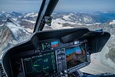 In a helicopter over the Alps