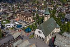 Parish church of St. Mauritius. Zermatt