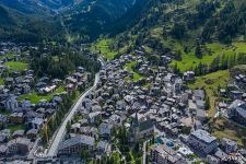 Bird's eye view of Zermatt