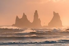 South Iceland, Vic, Seastacks Reynisdrangar