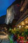 Lauterbrunnen in the evening
