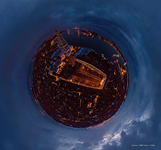 St.Marco Square at night. Planet