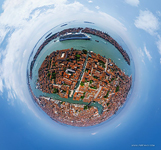 Cruise liner in Venice. Planet