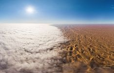 Mist above the Namib Desert