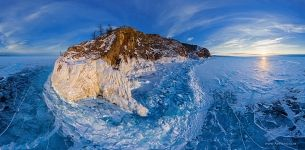 Ice at the Budun Cape, Baikal Lake, Russia