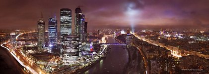 Moscow-City at night