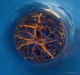 Taganka Square in the night. Planet